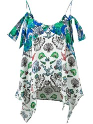Emilio Pucci Shell Print Cami Top Multicolour