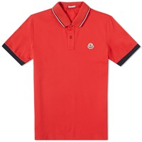 Moncler Tipped Polo Red