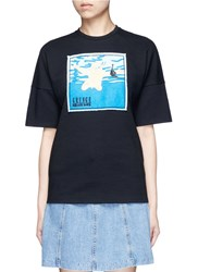 Ground Zero Nirvana Cd Cover Embroidery T Shirt Multi Colour Black