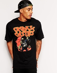 Crooks And Castles T Shirt With Fear Of The Crook Black