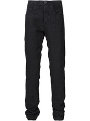 Label Under Construction Straight Leg Trousers Black