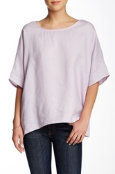 Planet Pull On Linen Tee Purple
