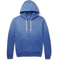 Polo Ralph Lauren Fleece Back Cotton Blend Jersey Hoodie Blue
