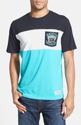 Mitchell And Ness 'Vancouver Grizzlies Margin Of Victory' Tailored Fit T Shirt Teal Black