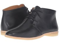Clarks Phenia Desert Black Leather Women's Lace Up Boots