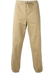 Ymc Cropped Tapered Trousers Brown