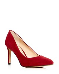 Vince Camuto Langer Suede Pointed Toe Pumps Red