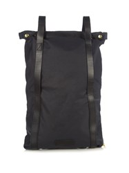 Malle Charlie Waxed Cotton Canvas Backpack Navy Multi
