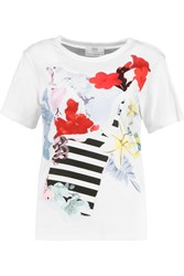 Erdem Penny Printed Cotton T Shirt White