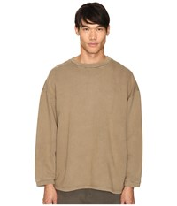 Adidas Originals By Kanye West Yeezy Season 1 Long Sleeve Crew Shirt Fossil Men's Clothing Beige