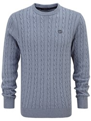 Henri Lloyd Kramer Regular Crew Knit Navy Marl