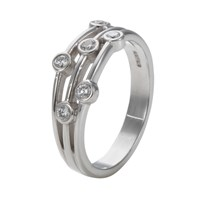 Ewa 18Ct White Gold Diamond Ring White Gold