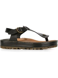 Silvano Sassetti T Bar Sandals Black