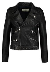 Only Sturock Leather Jacket Black