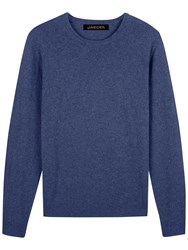 Jaeger Cashmere Crew Neck Sweater Chambray
