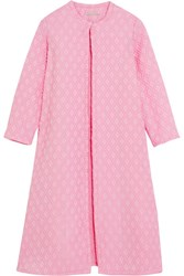 Emilia Wickstead Helen Oversized Cotton Blend Cloque Coat Pink