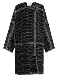 Chloe Wool And Cashmere Blend Coat Black White
