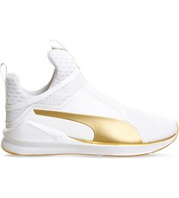 Puma Fierce High Top Trainers White Gold