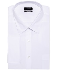 Alfani Big And Tall Solid Performance French Cuff Shirt White