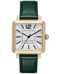 Marc Jacobs Women's Vic Dark Green Leather Strap Watch 30Mm Mj1492 Emerald