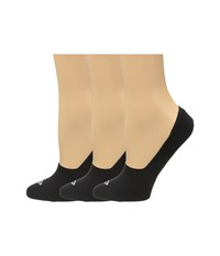 Sperry Solid 3 Pack Black Women's No Show Socks Shoes