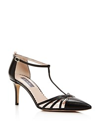 Sjp By Sarah Jessica Parker Carrie T Strap Pointed Toe Pumps Black