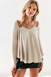 Silence And Noise Riley Strappy Swing Tee Tan
