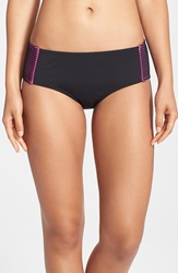 Betsey Johnson Hipster Bikini Bottoms Black