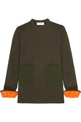 Toga Wool Blend Jersey Sweater Army Green