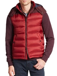 Burberry Fitzroy Puffer Vest Berry Red
