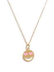 Alison Lou Enamel And Yellow Gold Lovestruck Face Necklace