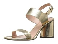 Marc Jacobs Emilie Strap Sandal Gold Leather Women's Sandals