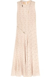 Stella Mccartney Zip Detailed Lace Gown Ivory