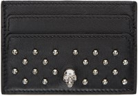 Alexander Mcqueen Black Studded Card Holder