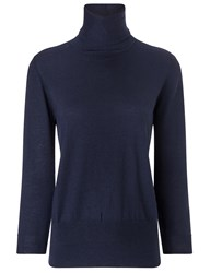 Frame Denim Navy Wool Turtleneck Jumper Blue