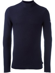 Armani Jeans High Neck Sweater Blue