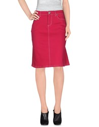 Escada Sport Denim Denim Skirts Women Fuchsia