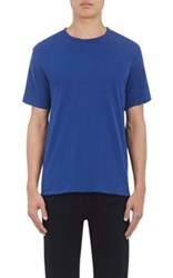 Rag And Bone Men's Reversible Cotton T Shirt Blue