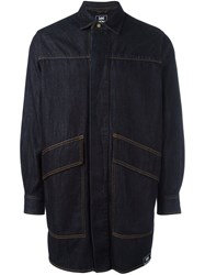 House Of Holland 'Lee' Oversized Denim Shirt Blue