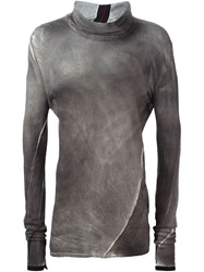 Lost And Found Tie Dye Roll Neck Sweater Grey