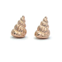 Daniel Darby Jewellery Rose Gold Shell Studs