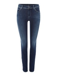 Armani Jeans J20 Lilac High Rise Super Skinny Jean In Mid Wash Denim Mid Wash