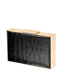 Aspinal Of London Scarlett Box Clutch Black