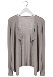 Saint Tropez Hot Fix Cardigan Stone Grey