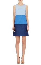 Lisa Perry Degrade Shift Dress Blue