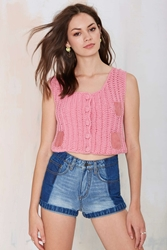 Nasty Gal Vintage Rosalina Crochet Crop Top