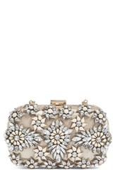 Natasha Couture Crystal Floral Box Clutch