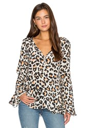 Animale Bell Sleeve Blouse Ivory