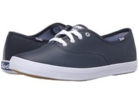 Keds Champion Leather Cvo Navy Women's Lace Up Casual Shoes