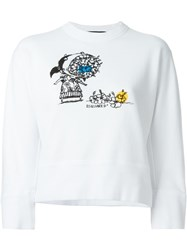 Dsquared2 Cropped Sweatshirt White